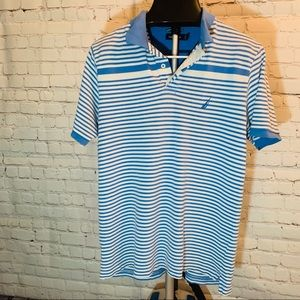 Nautica Blue Stripe Polo